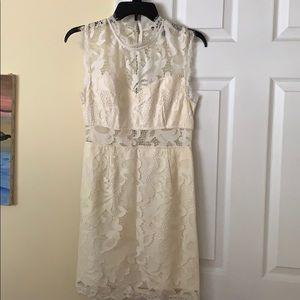 White cutout lace dress